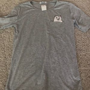 never worn cat flicking off shirt